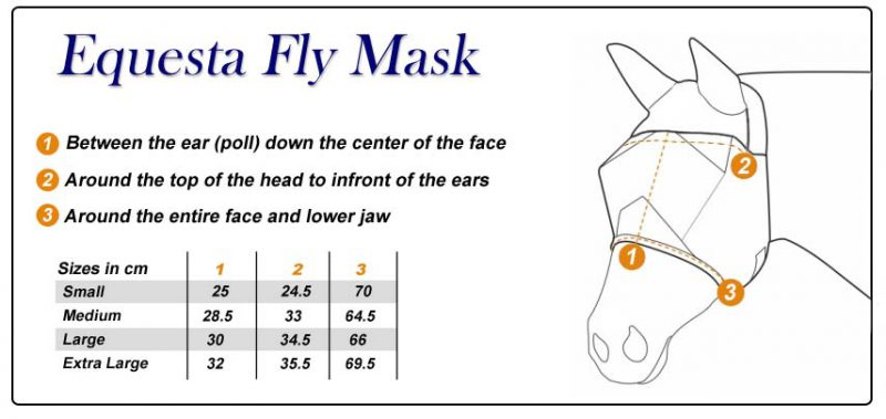 Fly Mask Size Chart